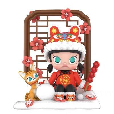 POPMART泡泡瑪特 瑞雪MOLLY吊卡手辦場景擺件玩具送女生新年禮物