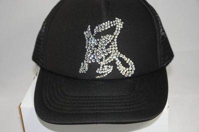 CON LONG 施華洛世奇水晶燙鑽手工客製訂做網帽(風)現貨直接購買價$1300免運費