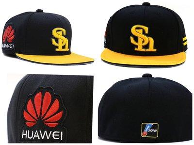 NPB SoftBanks 軟體銀行 球員版棒球帽 付贊助廠商臂章,61cm