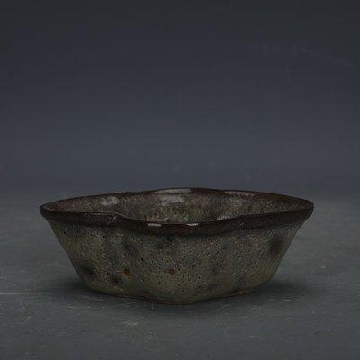 ㊣姥姥的寶藏㊣ 南宋官窯手工瓷豬毛孔釉刮徑洗  出土古瓷器古玩古董收藏擺件