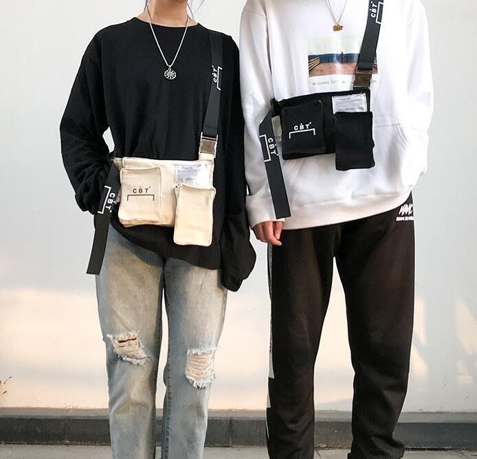 側背包男包包潮流時尚ins側背包休閒個性青年潮牌帆布單肩包小  &易購生活館