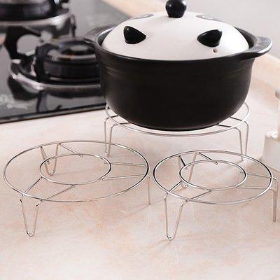 廚房不銹鋼蒸鍋高腳小蒸架 蒸飯隔熱架蒸盤器隔水蒸菜架子 挪威森林 全店免運