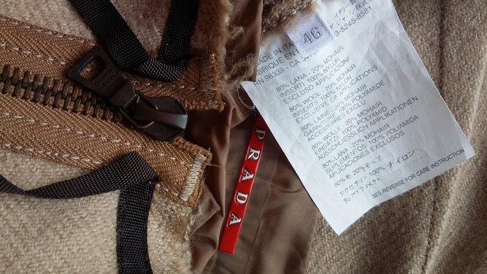 PRADA 淺駝色羊毛裙