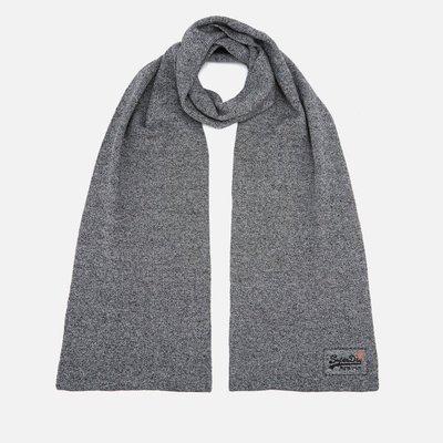【Superdry】極度乾燥五折現貨,男款簡約灰色素面圍巾,不輸Timberland、Stussy、保證正品