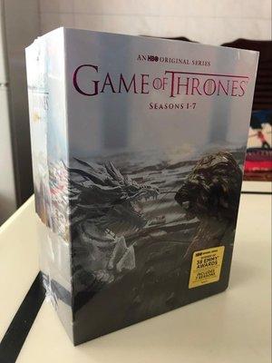 【優品音像】 原版美劇冰與火之歌權力的游戲1-7季未刪減高清34DVD碟權利的游戲 精美盒裝