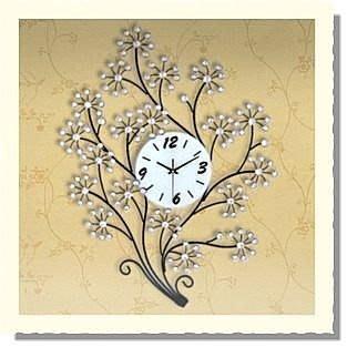 yes99buy加盟-亮閃閃幸福樹水鑽歐式田園靜音時鐘錶