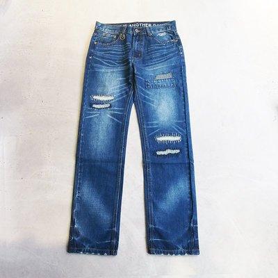 【車庫服飾】零碼特價 SHADOW Ameba Damaged Denim 丹寧 牛仔 破壞刷色牛王 牛仔褲