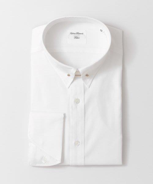 全新日本專櫃正品 URBAN RESEARCH  白色復古古銅金領針反摺袖窄版長袖襯衫 S/M號