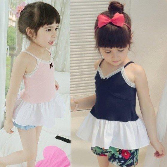 韓版《吊帶裙擺款》裙式~吊帶上衣 (J5-2)