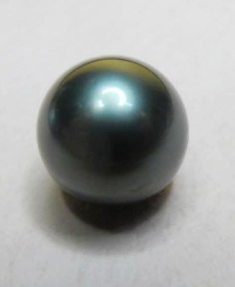 [一品軒促銷品]3A++級正圓天然完美無暇南洋孔雀綠珍珠[裸珠]11.4MM