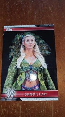 WWE  摔角女皇  Charlotte Flair  . 收藏小卡