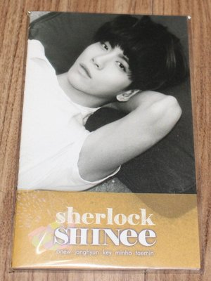 Jong hyun 鐘鉉 Shinee Sherlock sm entertainment官方mini note訂