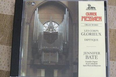 Unicorn-Jennifer Bate: Messiaen les corps glorieux-UK版,無IFPI
