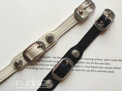 FUDGE法橘 / 正韓 率性簡單皮帶扣造型真皮手環/2色/LB15461