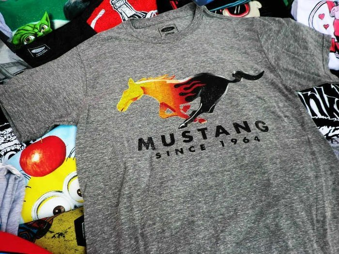 (I LOVE樂多)美國進口 FORD MUSTANG 福特野馬logo T桖 短T