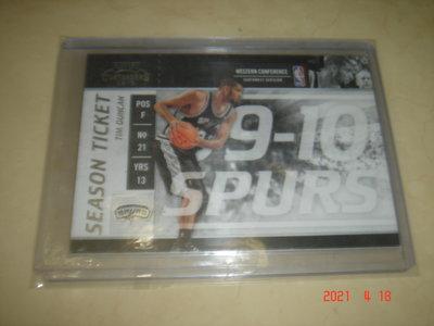 美國職籃 NBA Spurs Tim Duncan 2009-2010 Panini Contenders 球員卡