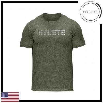 ►瘋狂金剛◄軍綠色  HYLETE pinpoint tri-blend crew tee 柔軟 透氣 短袖T恤
