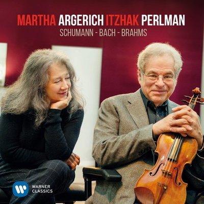舒曼、巴哈與布拉姆斯作品集 (台壓盤)/阿格麗希〈鋼琴〉帕爾曼〈小提琴〉---9029593789