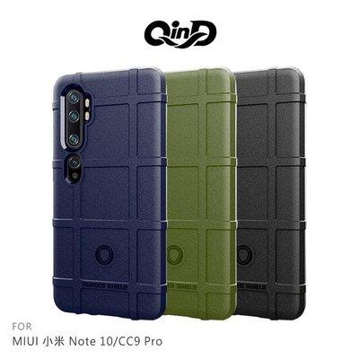 【愛瘋潮】QinD MIUI 小米 Note 10/CC9 Pro 戰術護盾保護套 背蓋式 手機殼 鏡頭加高