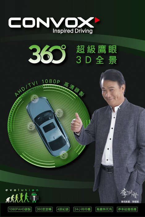 【全昇汽車音響】CONVOX 360度 超級鷹眼3D環景系統 AHD高畫質