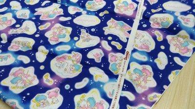 豬豬日本拼布 限量版權卡通布 夢幻 雙子星 藍色款 牛津布材質
