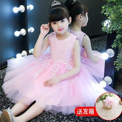 女童連身裙 公主裙新款童裝寶寶兒童禮服洋裝—莎芭