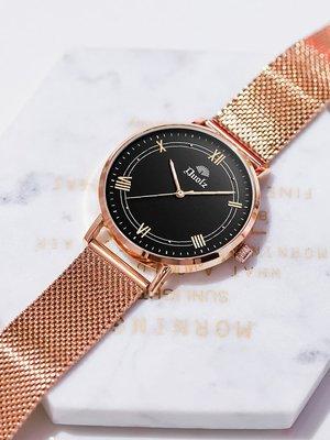 女士手表法國潮流高防水氣新款質學生森系學院簡約石新英風女表#手錶#MK-036