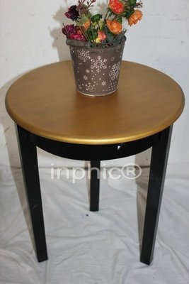 INPHIC-仿舊木質工藝 花架 凳子