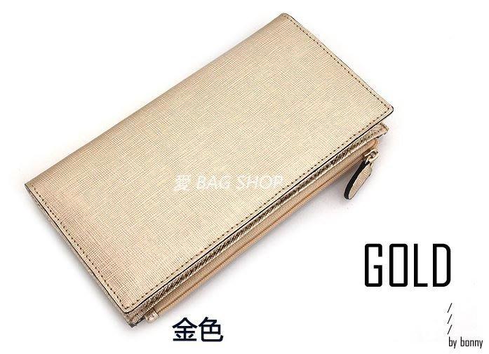 愛 BAG SHOP 韓國精品包專賣  Paper Air  拉鍊式 內夾層 質感牛皮革 長夾 1290 預購 薛小妞