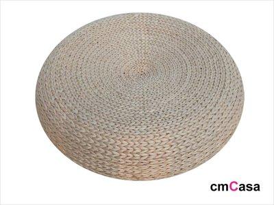 = cmCasa = [4128]新樂活風格 金屬骨架手工編織蒲草編織坐墊/塌塌米坐墊40x17 多尺寸發行