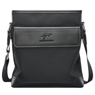 澳洲名牌 KANGAROO  袋鼠男士牛津布單肩側背包 斜挎包 時尚休閒帆布包