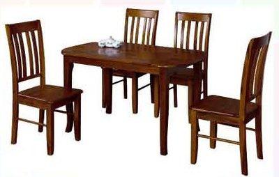 【南洋風休閒傢俱】典雅餐桌椅系列 – AR-137法瑞爾實木餐椅 木質餐桌組 (721-13)