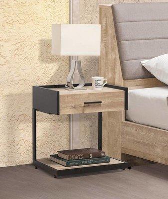 【風禾家具】FSY-53-1@橡木色單抽床頭櫃【台中3700送到家】床邊櫃 置物櫃 低甲醛木心板 工業風 台灣製傢俱