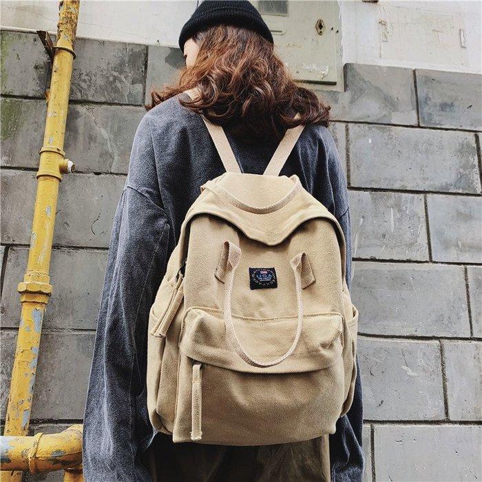 FuNFang_日系復古水洗帆布手提後背包*5色