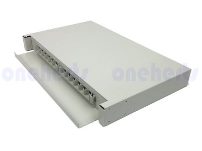 現貨 加厚19英吋抽屜式光纖終端盒通盒 24口 24路 支援 SC LC ST FC耦合器 機櫃式 光纖工作站 PC