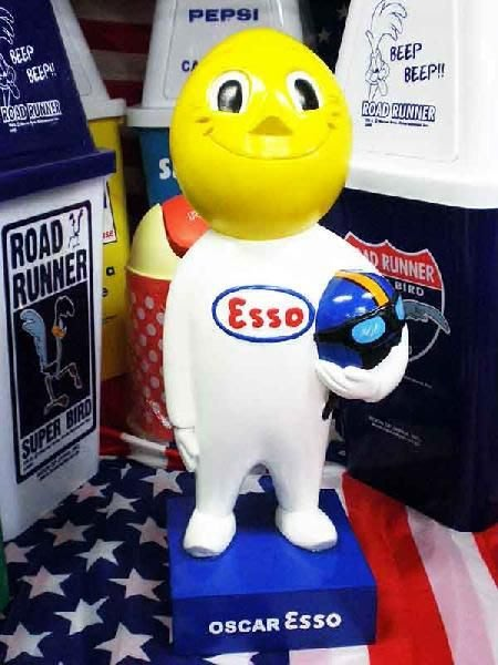 (I LOVE樂多)(僅一隻)經典美式老牌ESSO埃索油滴人大型擺飾公仔 限定生產100體