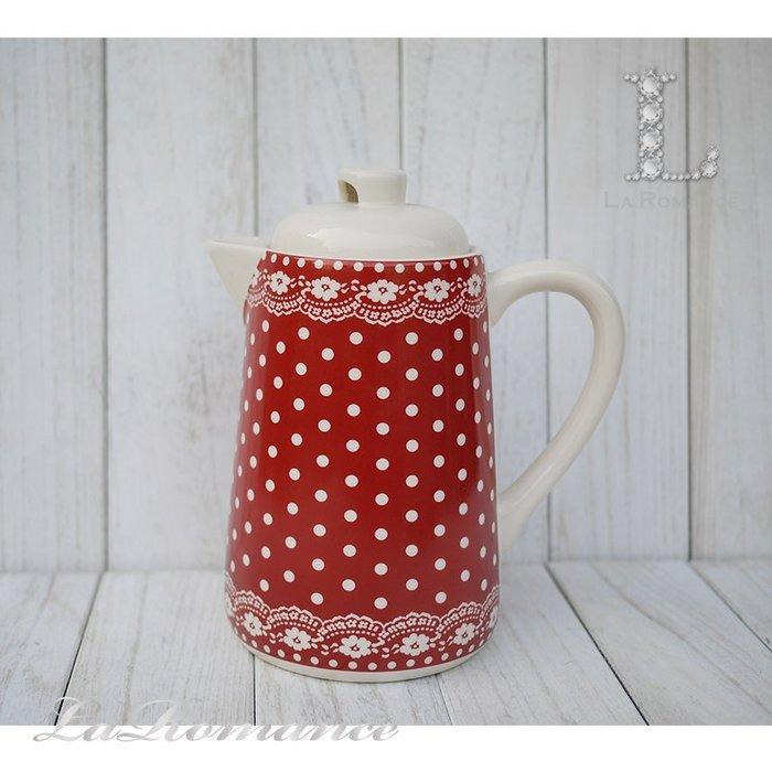 【荷蘭 Clayre & Eef 特惠系列】 紅色點點茶壺 / 餐具 / 鄉村風 / 童趣