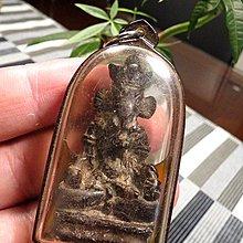 【 金王記拍寶網 】F1102  早期銅雕佛牌 銅雕佛 象鼻財神  包殼一尊 罕見稀少~