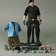 HOT TOYS MMS194 轟天猛將 2 THE EXPENDABLES 2 BARNEY ROSS 史太龍 1/6 figure