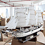 【德興生活館】帆船模型新婚房裝飾擺件地中...