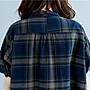 森女格子印花顯瘦棉麻衫 短袖襯衫 萌蔓物語【KX3168】韓碎花氣質女上衣