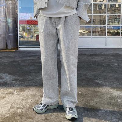 正韓男裝 落地抽繩牛仔寬褲 SET-UP 套裝 / 2色 / FD1121078 KOREALINE 搖滾星球