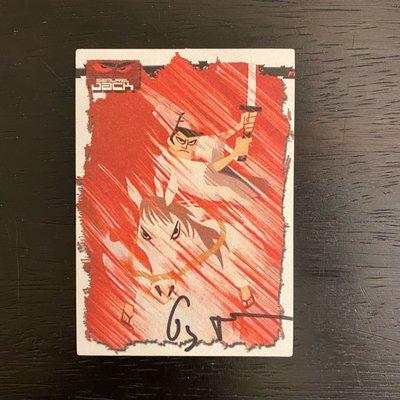 Cartoon Network 捷克武士 卡通  Genndy Tartakovsky 親筆簽名 卡片 簽名卡