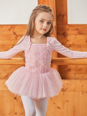 長袖芭蕾舞衣 舞蹈服 兒童律動《P&P》 1972粉色 開扣款 100-150