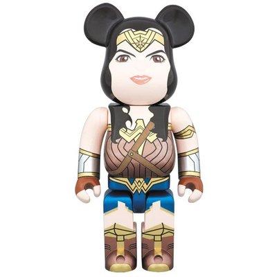 全新 未開封 Medicom Bearbrick 400% DC Batman v Superman Wonder Woman 神奇女俠 Be@rbrick