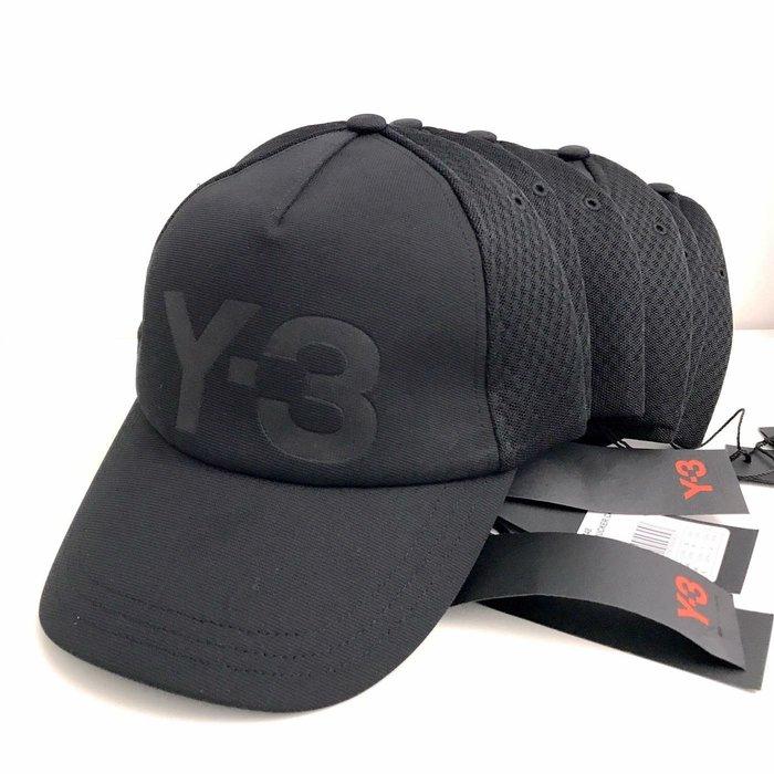 J-Shop Luxury 精品店 Y-3 山本耀司 黑色經典款Logo 男女同款帽子