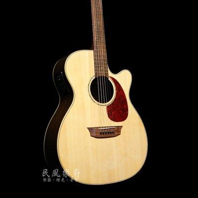 《民風樂府》Sympher Stager GA-RE Fishman拾音系統 精選玫瑰木 表演用單板電木吉他