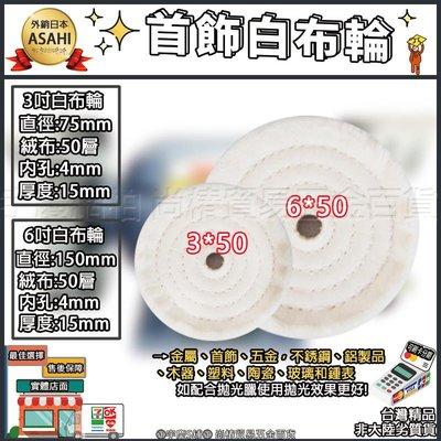 ㊣宇慶S舖㊣|刷卡分期|6吋白布輪|6