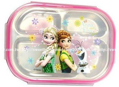 【批貨達人】冰雪奇緣密封不銹鋼分格餐盤...