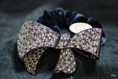 j183法國版料正Jou製造滿鑽超大弧形蝴蝶結超輕盈髮束(識貨即知特價中共3色已絕版)